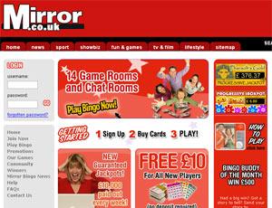 The mirror bingo review bonus bingo for Mirror bingo